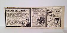 """KEN KLING ORIGINAL ARTWORK """"JOE AND ASBESTOS"""" 1930's .. COMIC NEWS PAPER ART"""