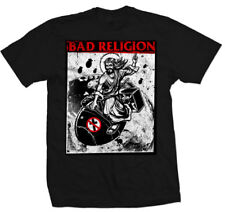 BAD RELIGION  ATOMIC JESUS T-SHIRT BLACK USA IMPORT COTTON FRONT PRINT HAND WASH