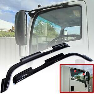 Rain Visor Wind Shield Weather Guard Black For Isuzu ELF NPR150 NQR175 Truck