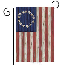 "Betsy Ross Flag Patriotic Garden Flag Rustic 4th of July 12.5"" x 18"""