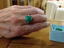BRAND  NEW SILVER PLATED RING WITH A SMALL TURQUOISE STONE  SIZE T+1/2