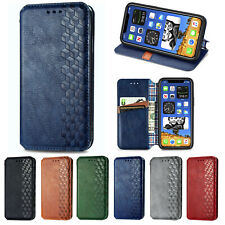 Classics Magnetic Leather Flip Card Wallet Stand Case Cover For Samsung Galaxy
