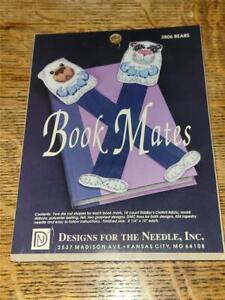 1991 NIP Counted Cross Stitch Craft Kit Book Mates Bookmarks Bears 2806