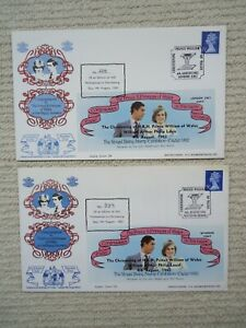 2X 1982 PRINCE WILLIAM CHRISTENING EXETER COVERS 5. London & Windsor postmarks