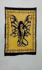 Indian Angel Butterfly Yellow Cotton Tapestry hippie Poster Wall Hanging Throw