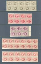 BELGIUM 1929 LION DEFINS LARGE BLOCKS TETE-BECHE PAIRS VERY FINE MNH