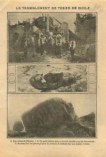 Ruins Calistri Earthquake Sicily Tremblement de Terre  Sicile 1911 ILLUSTRATION