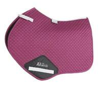Shires Performance Suede Jumping Saddlecloth Plum, Size 17 - 18 inch