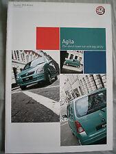 Vauxhall Agila GAMA FOLLETO 2003 Modelos Ed 1