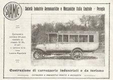 W7528 Omnibus SIAMIC su Chassis 18 BL FIAT - Pubblicità del 1920 - Old advert