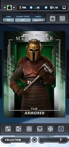 Star Wars Card Trader THE ARMORER Masterwork Wave 4 Green (DIGITAL)