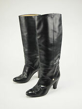1980s GUCCI Vintage Tall Leather High-heel Fashion Boot 38 - US 7