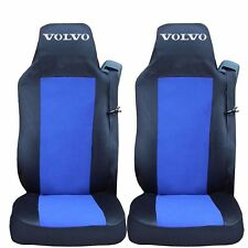 2 x Sitzbezüge Schonbezüge Bezüge Schwarz / Blau LKW VOLVO FH12 FH16 FL FM