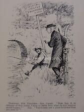 Fly Fishing Rod Angler BOY & MINISTER - TEACHING THE TEACHER Antique Cartoon