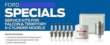 GENUINE FORD SY TERRITORY SERVICE KIT OIL AIR FUEL FILTER SPARK PLUGS UP TO 0408