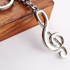 2016 New Creative Large Musical Note Treble Clef Silver Plated Keychain Keyring
