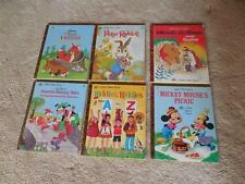 6 Disney Little Golden Books – Peter Rabbit, Mickey Mouse, Winnie-the-Pooh, etc