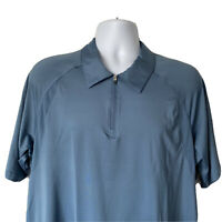 Reel Legends Men Casual Formal Golf Fishing Polo Shirt Size Large  Blue