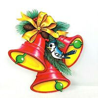 Vintage Beistle Co Diecut Bird Bells Paper Decorations Holiday Christmas Flaws