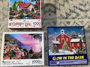 Lot Of 3 1000 Piece Puzzles