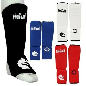 Shin & Instep Guard (Pair) - Kick Boxing MMA Muay Thai Protector - Morgan Sports