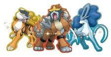 Pokemon GameStop 2011 Event Shiny Raikou, Shiny Entei, and Shiny Suicine.