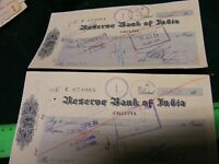 Calcutta,India...Old used cheque/check ...Reserve Bank of India..1955.