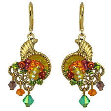 NEW KIRKS FOLLY CORNUCOPIA LEVERBACK EARRINGS GOLDTONE