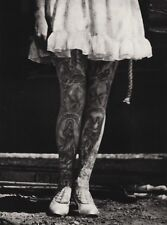 1940's Vintage CIRCUS CARNIVAL Freak TATTOO WOMAN Female Legs Photo Art Ringling