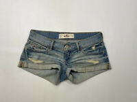HOLLISTER Denim Hotpants - Size W23 - Blue - Great Condition - Women's
