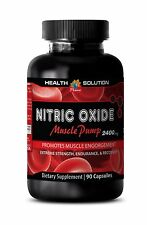 Nitric oxide supplements - NITRIC OXIDE MUSCLE PUMP 2400 - Muscle builder -1 Bot