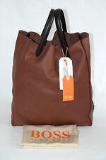 NEU DAMEN LEDERTASCHE VON HUGO BOSS ORANGE, Made in Italy,     6651