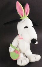 Snoopy Whitman's Chocolates Easter Plush with Bunny Ears & Cloth Basket