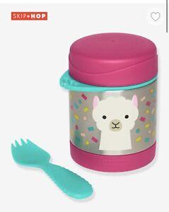 Skip Hop Llama Insulated Food Pot And Fork - New