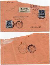 244 - Colonie, Cirenaica - Giubileo Re su raccomandata per Milano, 15/10/1926