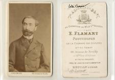 Flamant, Neuilly, Sadi Carnot Vintage CDV albumen carte de visite. CDV, tira