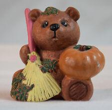 Teddy, Halloween, Kürbis, Keramik, tolles Design, Deko, Keramikteddy