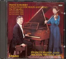SCHUBERT - 3 Violin Sonatinas - Frances MASON / Michael FREYHAN - Kingdom