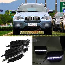 LED Daytime Running Light For BMW X6 E71  Driving Fog Lamp DRL 2010 2011 2012