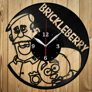 Vinyl Clock Brickleberry Original Vinyl Clock Art Home Decor Handmade Gift 4289