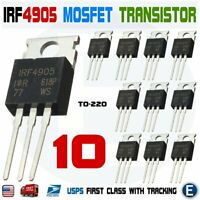 10pcs IRF4905 Transistor IRF4905PBF MOSFET FET P-Channel 55V 75A 200W USA