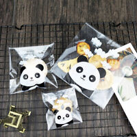 100x Panda Self-adhesive Candy Cookie Gift Bags Matting Package Cellophane Party