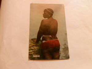 """Vintage Postcard - Zulu Woman. """" posterior"""". -South Africa - C.1910 - unposted"""