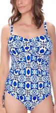 Abbigliamento blu Fantasie con spalline per il mare e la piscina da donna