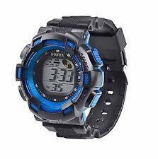 Big Dial Kids Boys Wristwatch Multifunc Alarm Timer Digital Wrist Watch Blue CD