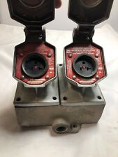 Crouse Hinds Explosion Proof Box With Receptacles