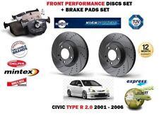 für Honda Civic Typ R 2.0 2001- > front Performance Bremsscheiben Satz + BELÄGE