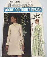 Vogue Couturier Sewing Pattern 2265 Fabiani Evening Dress 12-14-16 Vintage Uncut