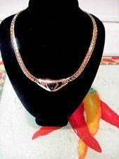 SWAROVSKI S.A.L. Vintage Blue CRYSTAL Gold Tone 18 inch Choker Style Necklace