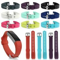 Replacement Silicone Wristband Band Bracelet Buckle Strap for Fitbit Alta & HR